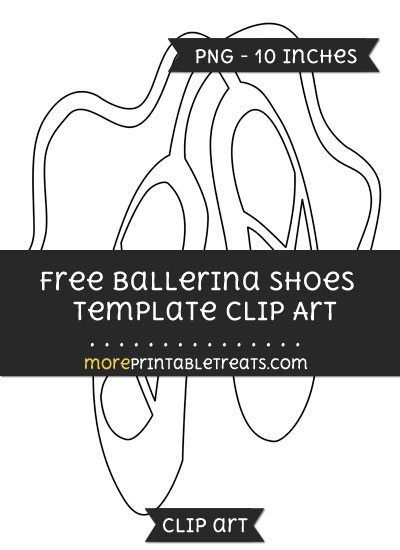 Free Ballerina Shoes Template - Clipart