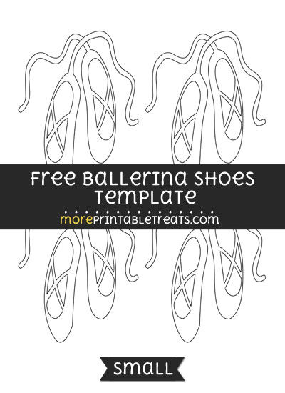 Free Ballerina Shoes Template - Small