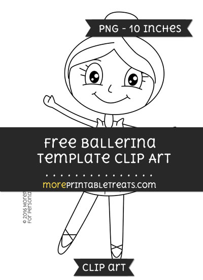 Free Ballerina Template - Clipart