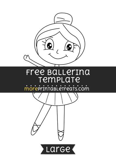 Free Ballerina Template - Large