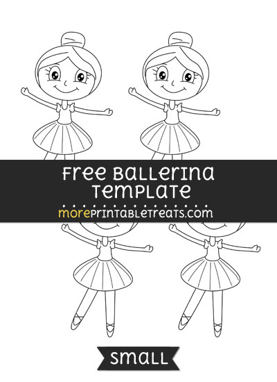 Free Ballerina Template - Small