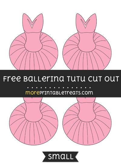 Free Ballerina Tutu Cut Out - Small Size Printable