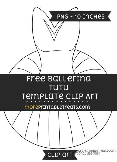 Free Ballerina Tutu Template - Clipart