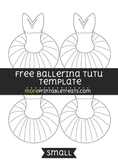 Free Ballerina Tutu Template - Small