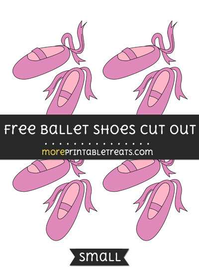 Free Ballet Shoes Cut Out - Small Size Printable
