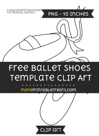 Free Ballet Shoes Template - Clipart