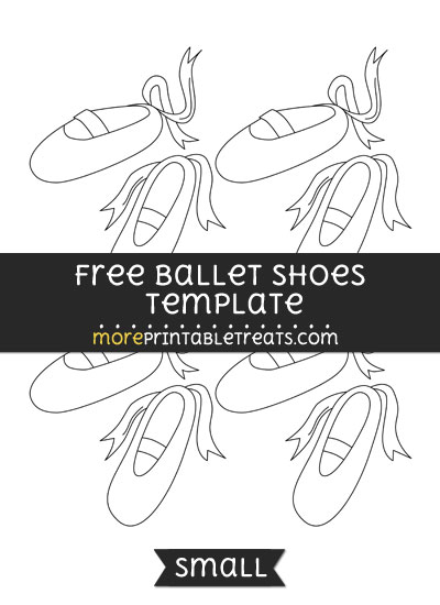 Free Ballet Shoes Template - Small