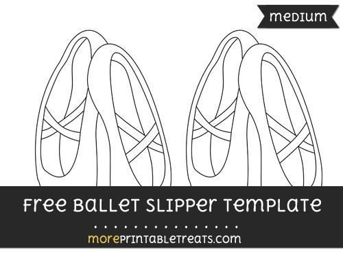 Free Ballet Slipper Template - Medium