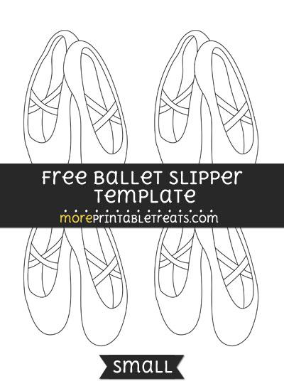 Free Ballet Slipper Template - Small