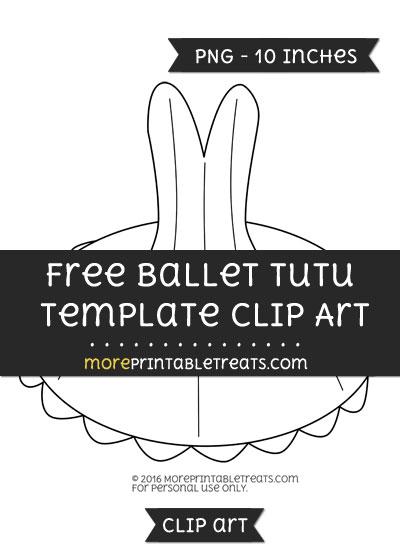 Free Ballet Tutu Template - Clipart
