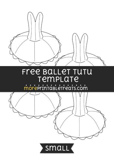 Free Ballet Tutu Template - Small