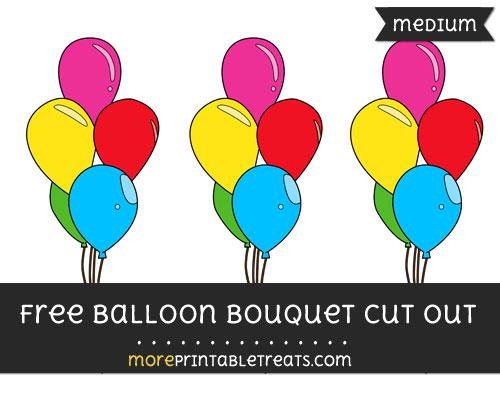 Free Balloon Bouquet Cut Out - Medium Size Printable