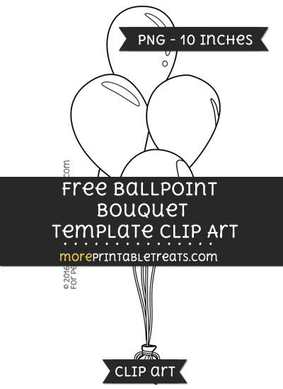 Free Balloon Bouquet Template - Clipart