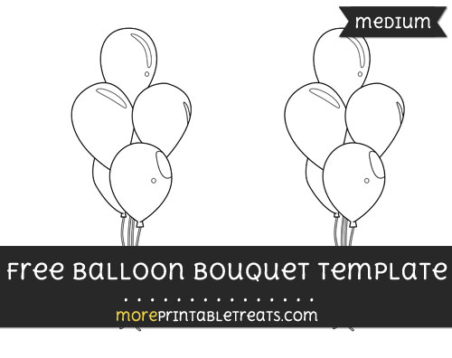 Free Balloon Bouquet Template - Medium