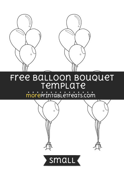 Free Balloon Bouquet Template - Small