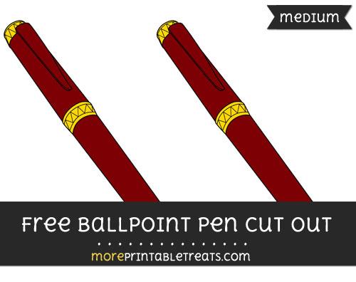 Free Ballpoint Pen Cut Out - Medium Size Printable