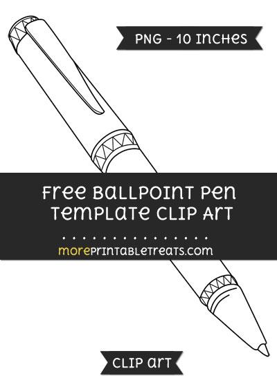 Free Ballpoint Pen Template - Clipart