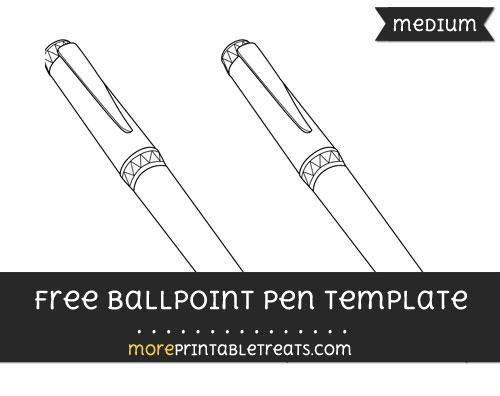Free Ballpoint Pen Template - Medium