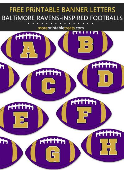 Free Printable Baltimore Ravens-Inspired Football Alphabet