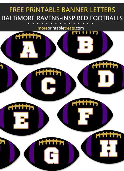 Free Printable Baltimore Ravens-Inspired Football Bunting Banner