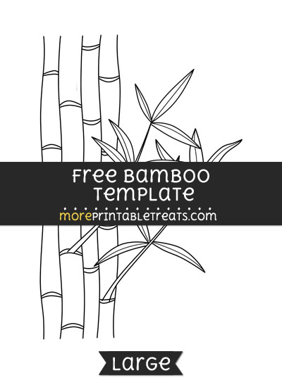 Free Bamboo Template - Large