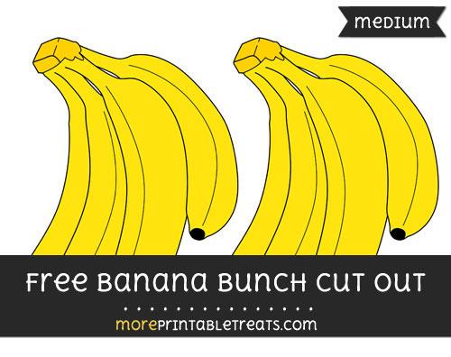 Free Banana Bunch Cut Out - Medium Size Printable