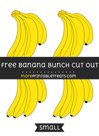 Free Banana Bunch Cut Out - Small Size Printable