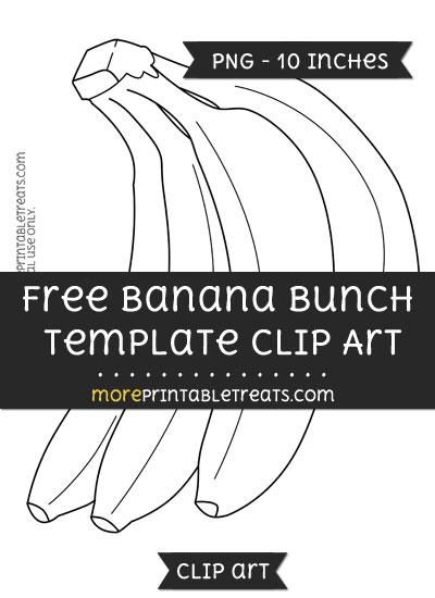 Free Banana Bunch Template - Clipart