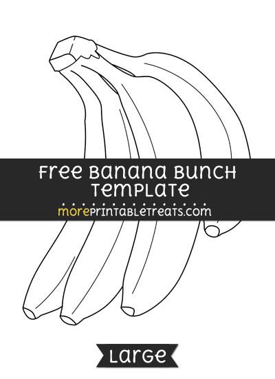 Free Banana Bunch Template - Large