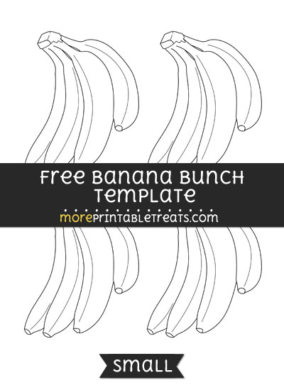 Free Banana Bunch Template - Small