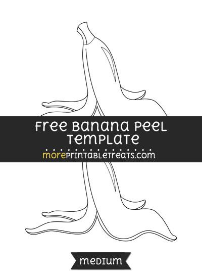 Free Banana Peel Template - Medium