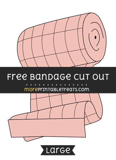 Free Bandage Cut Out - Large size printable