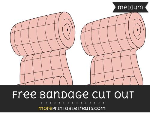 Free Bandage Cut Out - Medium Size Printable