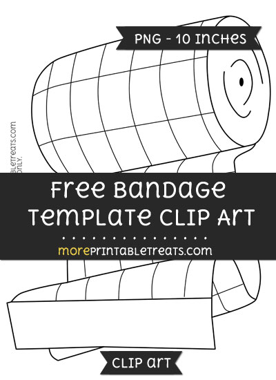 Free Bandage Template - Clipart