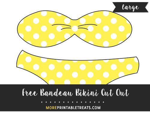 Free Bandeau Bikini Cut Out - Large