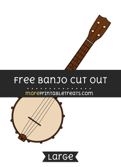 Free Banjo Cut Out - Large size printable