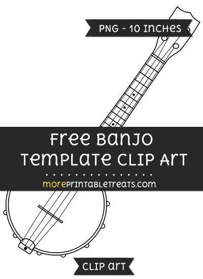 Free Banjo Template - Clipart