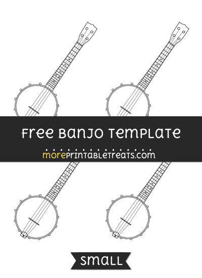 Free Banjo Template - Small
