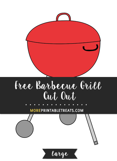 Free Barbecue Grill Cut Out - Large