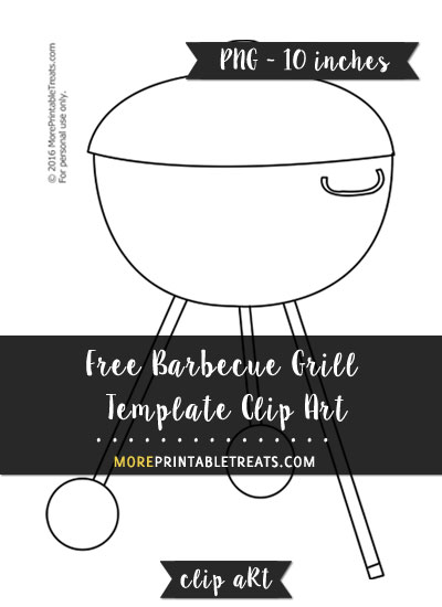 Free Barbecue Grill Template - Clipart