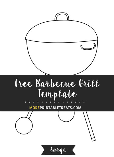 Free Barbecue Grill Template - Large