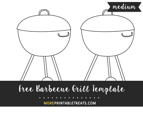 Free Barbecue Grill Template - Medium Size