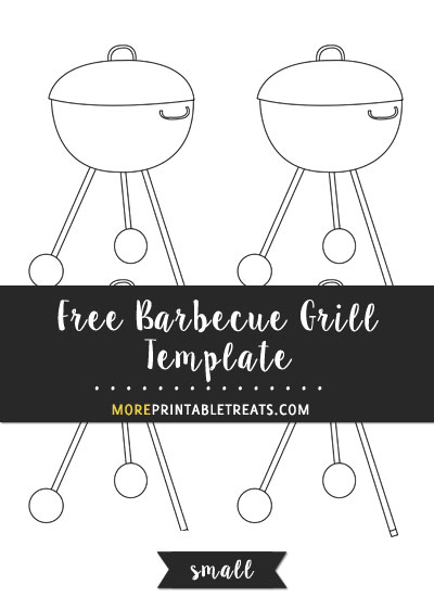 Free Barbecue Grill Template - Small Size