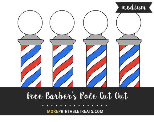 Free Barber's Pole Cut Out - Medium