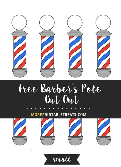 Free Barber's Pole Cut Out - Small