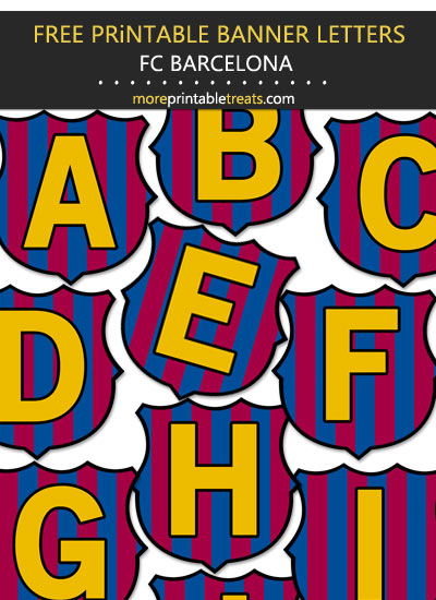Free Printable Barcelona Futbol Soccer Alphabet Party Banner