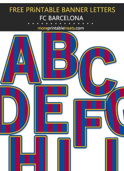 Free Printable Barcelona Futbol Team Alphabet