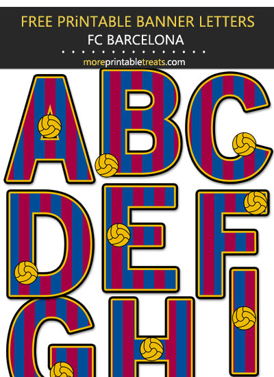 Free Printable Barcelona Soccer Team Decorated Letters
