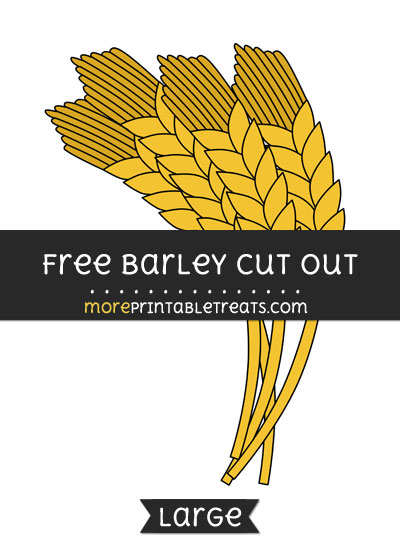 Free Barley Cut Out - Large size printable
