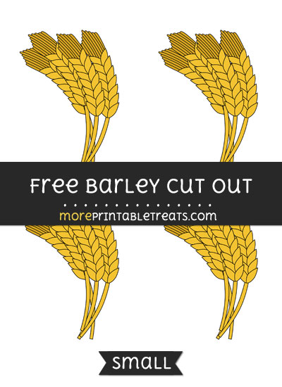 Free Barley Cut Out - Small Size Printable